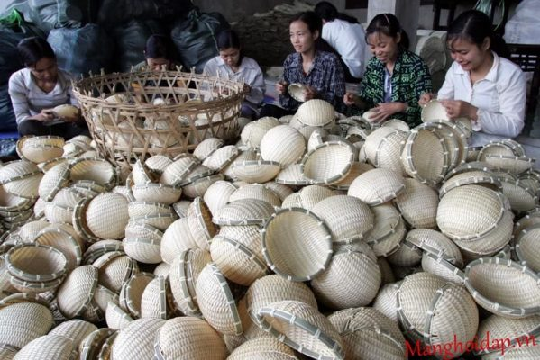 Làng nghề Bắc Giang - Hợp tác xã mây tre đan Tăng Tiến
