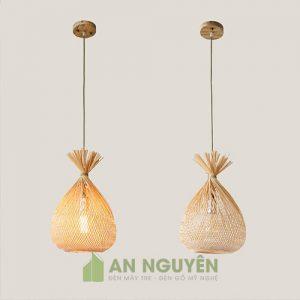 Đèn Mây Tre Mẫu đèn treo handmade chụp đèn phong cách Á Châu mộc mạc 1