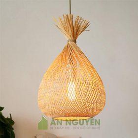 Đèn Mây Tre Mẫu đèn treo handmade chụp đèn phong cách Á Châu mộc mạc