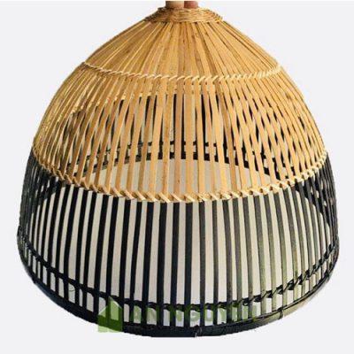 Đèn tre hình nơm cá được làm thủ công tinh tế trang trí nội thất