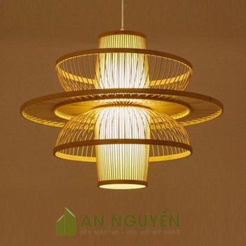 Đèn Mây Tre: Mẫu đèn chùm hình hoa sen trang trí nhà hàng