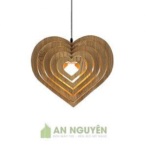 Đèn gỗ trang trí hình trái tim trang trí quán trà sữa dễ thương