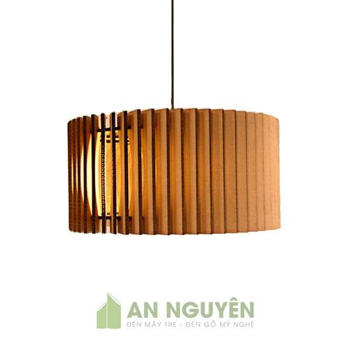 Đèn Gỗ: Mẫu đèn gỗ hình nón cánh vát trang trí resort DG030