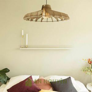 Đèn gỗ: Mẫu đèn gỗ thả trần trang trí bàn ăn, phòng khách DG047