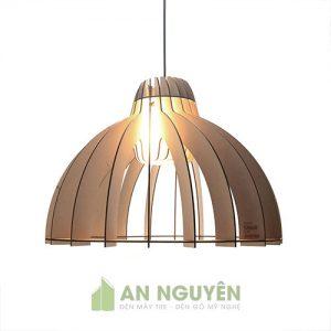 Đèn gỗ: Mẫu đèn gỗ thả trần trang trí bàn ăn, bàn làm việc DG045