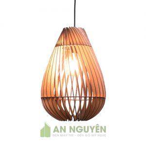 Đèn Gỗ: Mẫu đèn gỗ hình tổ chim dồng dộc trang trí phòng khách DG041