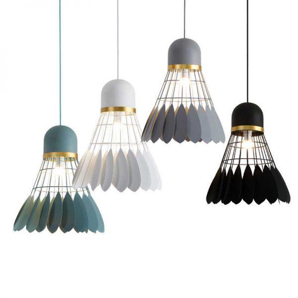 đèn gỗ hình cầu lông An Nguyên tphcm