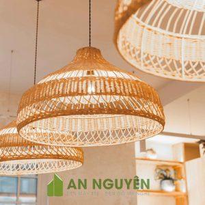 Mẫu đèn mây tre đan trang trí quán cafe giá rẻ ở TPHCM