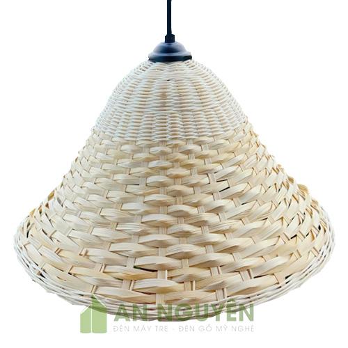 Mẫu đèn mây tre hình chiếc nón trang trí ở tphcm giá rẻ
