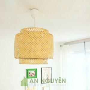 Đèn Mây Tre: Mẫu đèn mây tre trang trí nhà hàng, quán ăn Fi 40 H40cm