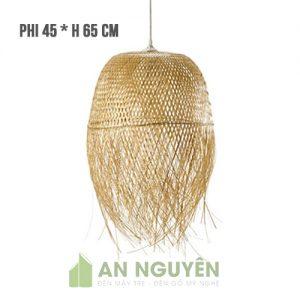 Đèn Mây Tre Mẫu đèn mây tre tua rua kiểu con sứa biển Fi 45 H 45cm - An Nguyen