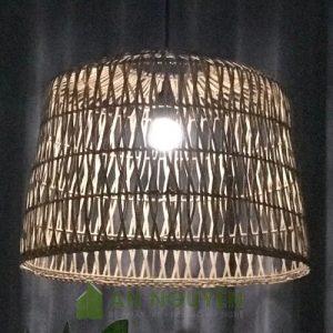Đèn Mây Tre: Mẫu đèn mây đan giống lồng gà trang trí quán cafe, nhà hàng Fi 50