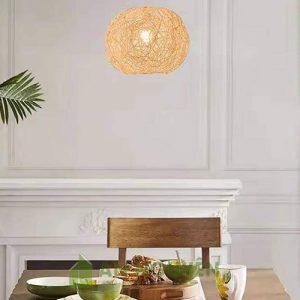 Đèn Mây Tre: Mẫu đèn thả mây rối trang trí nhà hàng, quán ăn