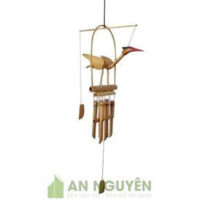 Chuông gió: Mẫu chuông gió bằng tre hình con hạc trang trí nhà cửa, shop