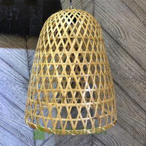 Đèn Mây Tre: Mẫu đèn mây tre đan kiểu lồng gà nhỏ trang trí nhà hàng