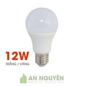 Bóng Đèn: Bóng bulb 12W ánh sáng vàng, trắng