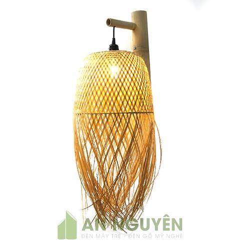 Đèn Mây Tre: Mẫu đèn vách hình con sứa biển trang trí nhà hàng
