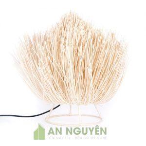 Đèn Mây Tre: Mẫu đèn để bàn mây đan như lông nhím giá rẻ