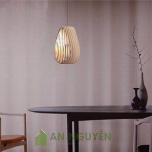 Đèn Gỗ: Mẫu đèn thả gỗ trang trí phòng ngủ lắp xiên
