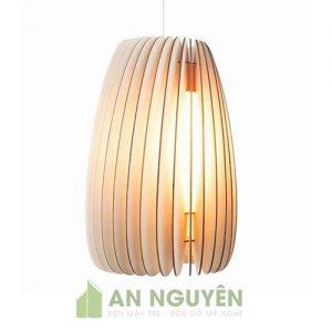 Đèn Gỗ: Mẫu đèn thả gỗ trang trí phòng ngủ lắp xiên kiểu tròn và dài