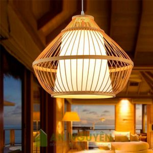 Đèn mây tre đan thả trần trang trí giá rẻ đèn tăm tre, đèn nan tre giá rẻ - Mây tre An Nguyên (14)