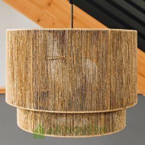 Đèn Mây Tre: Chụp đèn dây đay đan trang trí phòng khách sảnh nhà hàng