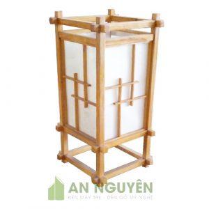 Đèn Gỗ: Mẫu đèn sàn lùn trang trí bằng gỗ thật cực đẹp