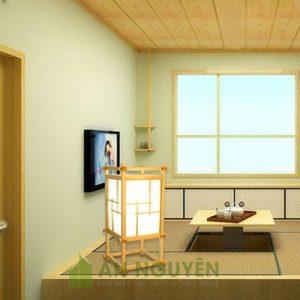 Đèn Gỗ: Mẫu đèn sàn trang trí bằng gỗ thật trang trí spa, phòng thiền