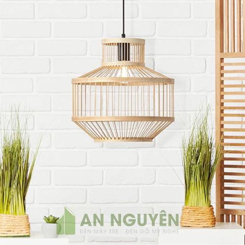 Đèn Mây Tre: Mẫu đèn tăm tre đan trang trí như hộp mực học sinh