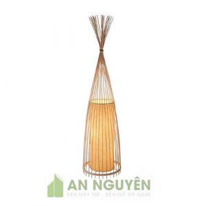 Đèn Mây Tre: Đèn bàn đèn để sàn hình búp măng trang trí spa, phòng thiền