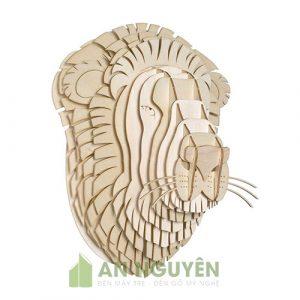 Đầu sư tử trang trí phòng khách, phòng làm việc