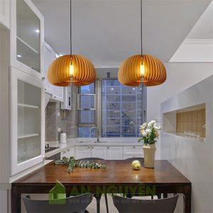 Đèn Gỗ: Mẫu đèn thả gỗ trang trí bàn ăn, bàn bar đẹp ở TPHCM