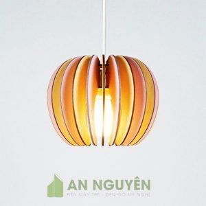 Đèn Gỗ: Mẫu đèn gỗ hình quả táo trang trí bàn ăn bàn bar nhà bếp