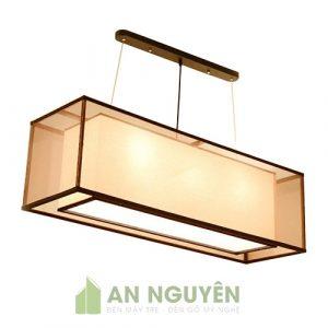 Đèn Vải: Đèn vải thả bàn ăn hình chữ nhật cực đẹp giá rẻ