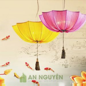 Đèn Vải: Mẫu đèn vải Hội An trang trí quán ăn truyền thống