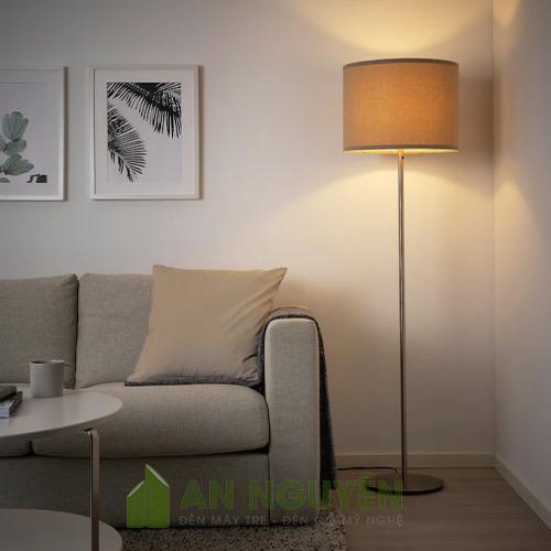 Đèn Vải: Mẫu đèn vải trụ tròn phi 40 phòng ngủ, chụp đèn sàn phòng ngủ