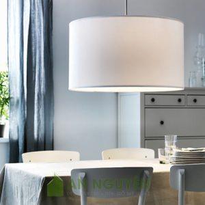 Đèn Vải: Mẫu đèn vải trụ tròn phi 50 trang trí không gian rộng, chụp đèn cây lớn