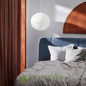 Đèn Vải: Mẫu đèn vải hình cầu khung sắt kiểu 1